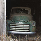 And old GMC truck abandoned in Kansas