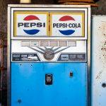 old Pepsi cola vending machine
